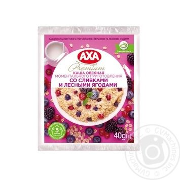 Каша АХА вівсяна з вершками та лісовими ягодамии 40г - купити, ціни на МегаМаркет - фото 1