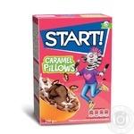 Сухие завтраки Start! подушечки с начинкой с ароматом карамели 250г