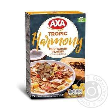 Пластівці мультизернові AXA Harmony Tropic з тропічними фруктами збагачені мінералами 220г - купити, ціни на УльтраМаркет - фото 1