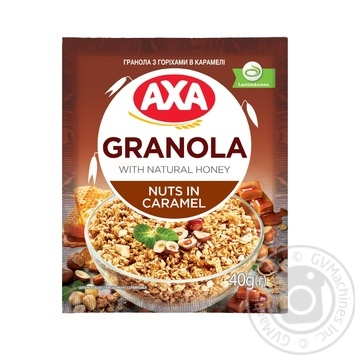 АХА Granola Cereals With Nuts In Caramel Dry Breakfast 40g - buy, prices for EKO Market - photo 1