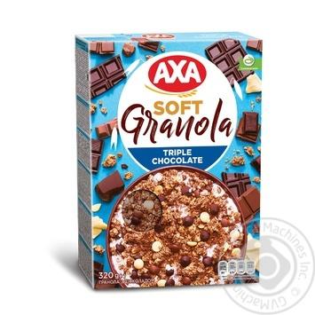 Завтраки сухие зерновые Гранола АХА с шоколадом 320г - купить, цены на МегаМаркет - фото 1