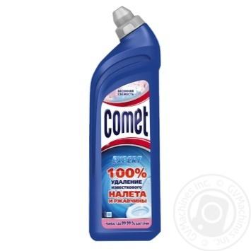 Гель Comet Весенняя свежесть 7 дней чистоты для чистки туалета 750мл - купить, цены на Novus - фото 4