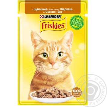Friskies with turkey pieces in sauce for cats food 85g - buy, prices for Tavria V - image 1