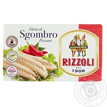 Скумбрия RIZZOLI пикантная с красным перцем 90гр