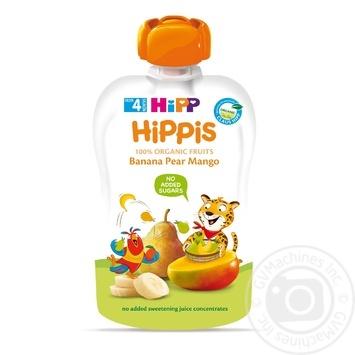 Пюре Hipp Hippis банан-груша-манго 100г - купить, цены на Ашан - фото 1