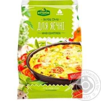 Суміш овочева Хуторок селянський Для яєчні швидкозаморожена 400г - купити, ціни на МегаМаркет - фото 1
