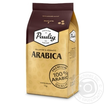 Natural roasted coffee beans Paulig Arabica 1kg - buy, prices for MegaMarket - image 1
