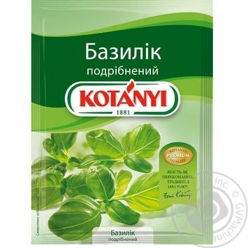 Базилік Kotanyi подрібнений 9г - купити, ціни на МегаМаркет - фото 1