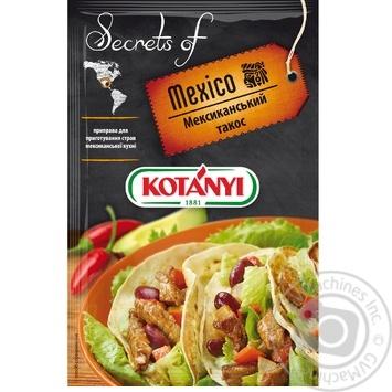 Приправа Kotanyi Мексиканский такос 20г - купить, цены на Novus - фото 1