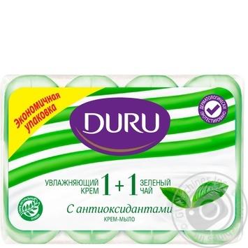 Мыло Duru экстракт зеленого чая туалетное 4шт*90г - купить, цены на Novus - фото 1