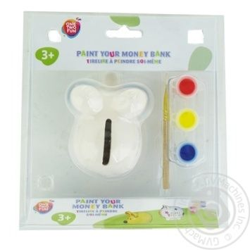 One Two Fun Paint Your Bank in assortment - buy, prices for Auchan - image 1