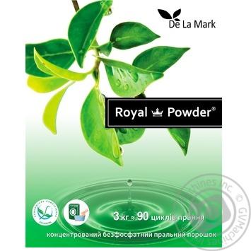 Порошок стиральный Delamark Royal Powder универсальный концентрированный бесфосфатный 3кг - купить, цены на СитиМаркет - фото 3