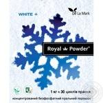 Порошок пральний Delamark Royal Powder White+ для білих речей концентрований безфосфатний 1кг