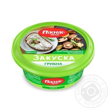 Закуска Пикник Меню грибная для бутербродов 110г - купить, цены на Восторг - фото 1
