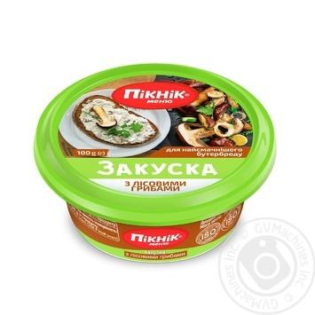 Закуска Пикник меню с лесными грибами для бутербродов 100г - купить, цены на Novus - фото 1