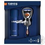 Gillette Fusion 5 ProGlide Flexball with 1 replaceable cartridge razor + Ultra Sensitive shave gel 75 ml gift set - buy, prices for Novus - image 1