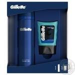 Подарочный набор Gillette Гель для бритья 200мл, Гель после бритья для чувствительной кожи 75мл - купить, цены на МегаМаркет - фото 1