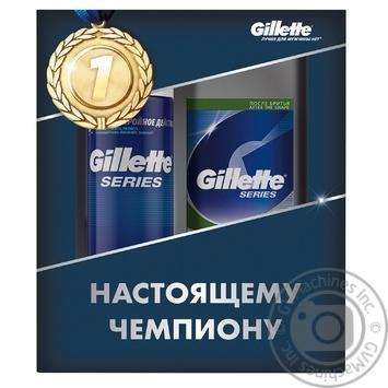 Подарунковий набір Gillette Піна для бриття 250мл, Бальзам після гоління 100мл - купити, ціни на Novus - фото 1