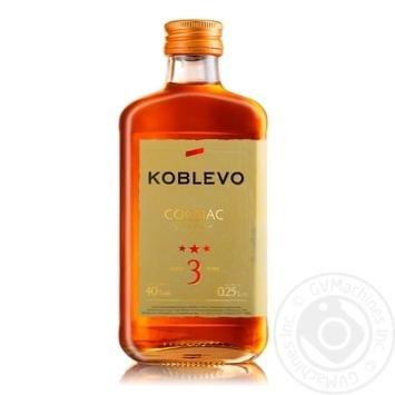 Koblevo 3 stars brandy 40% 0,25l - buy, prices for Novus - image 1