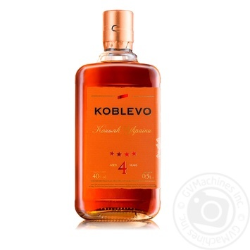 Koblevo 4 stars brandy 40% 0,5l - buy, prices for CityMarket - photo 1
