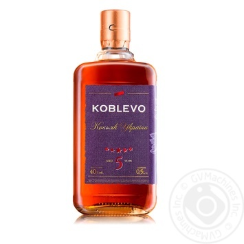 Koblevo 5 stars brandy 40% 0,5l - buy, prices for Novus - image 1