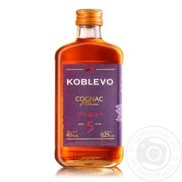 Коньяк Коблево 5 звезд 40% 0,25л - купить, цены на СитиМаркет - фото 1