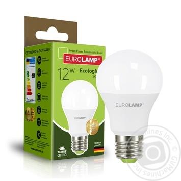 Светодиодная лампа EUROLAMP А60 12W E27 3000K