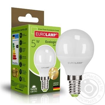 Лампа Eurolamp Eko LED серія D G45 5W E14 3000K - купить, цены на Novus - фото 1