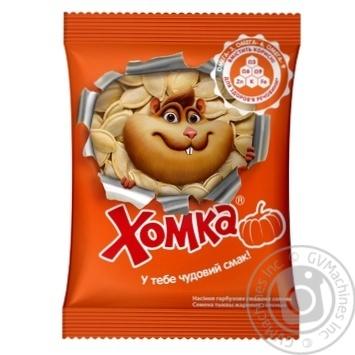 Насіння гарбузове Хомка смажене солоне 80г - купити, ціни на МегаМаркет - фото 1