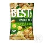 Арахіс Best nuts з печі смажений солоний зі смаком сиру 80г