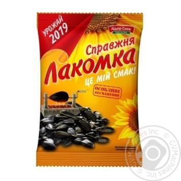 Семечки Лакомка жареные несоленые 120г - купить, цены на Novus - фото 1
