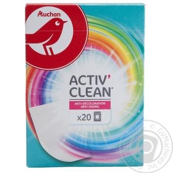 Серветки Ашан Пастка-кольору 20шт - купити, ціни на Ашан - фото 1