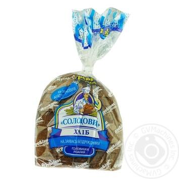 Хлеб Агробизнес Солодовый на закваске резаный половинка 350г - купить, цены на Ашан - фото 1