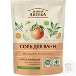 Соль для ванны Зеленая Аптека мандарин и бергамот 500г