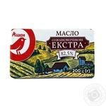 Масло Ашан Экстра сладкосливочное 82,5% 200г