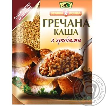 Каша гречана Еко Велика Ложка з грибами швидкого приготування 38г - купити, ціни на Ашан - фото 1