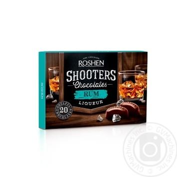 Цукерки шоколадні Roshen Shooters з ромовим лікером 150г - купити, ціни на МегаМаркет - фото 1