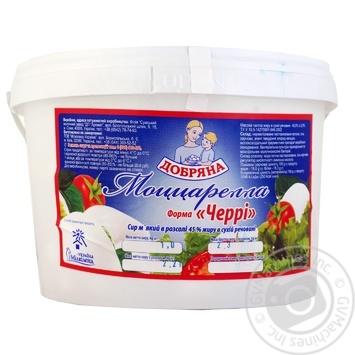 Сыр Добряна Моцарелла 45% в ведерке