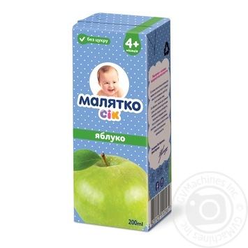 Сок Малятко яблоко 200мл - купить, цены на Ашан - фото 1