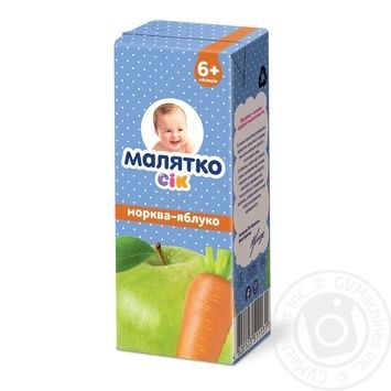 Сок Малятко морковь-яблоко 200мл