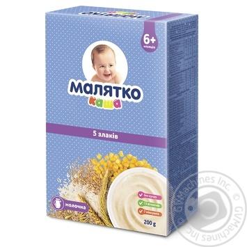 Каша Малятко молочна 5 злаків 200г - купити, ціни на Фуршет - фото 1