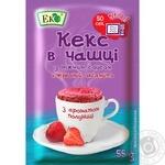 Суміш для випікання Еко Червоний оксамит Кекс в чашці з полуничним соусом 55г