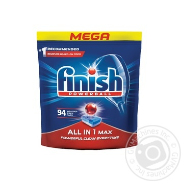 Finish All in 1 Max Dishwasher Pills 94pcs - buy, prices for Metro - image 1