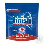 Средство Finish All in One для мытья посуды в посудомоечных машинах в таблетках 50шт