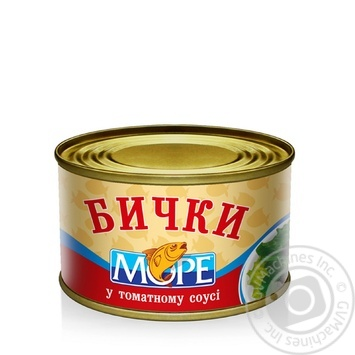 Бычки Море в томатном соусе 230г - купить, цены на Фуршет - фото 1