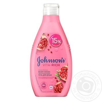 Гель для душа Johnson's Vita-Rich Преобразующий с экстрактом цветов граната 750мл - купить, цены на Novus - фото 1