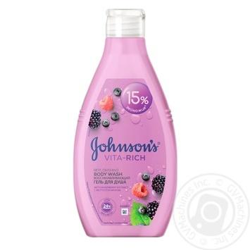 Гель для душа Johnson's Vita Rich лесные ягоды 750мл - купить, цены на Novus - фото 1