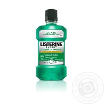 Ополаскиватель для полости рта Listerine Expert Защита от кариеса 250мл - купить, цены на Novus - фото 1