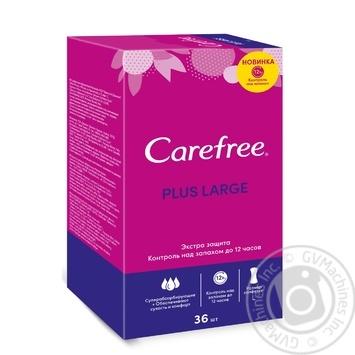 Прокладки щоденні Carefree Plus Large 2.5 краплі 36шт - купити, ціни на Novus - фото 1