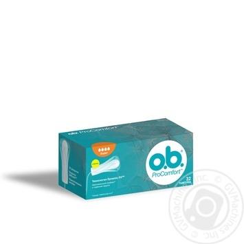 Тампоны о.b. ProComfort Super 32шт - купить, цены на Novus - фото 1